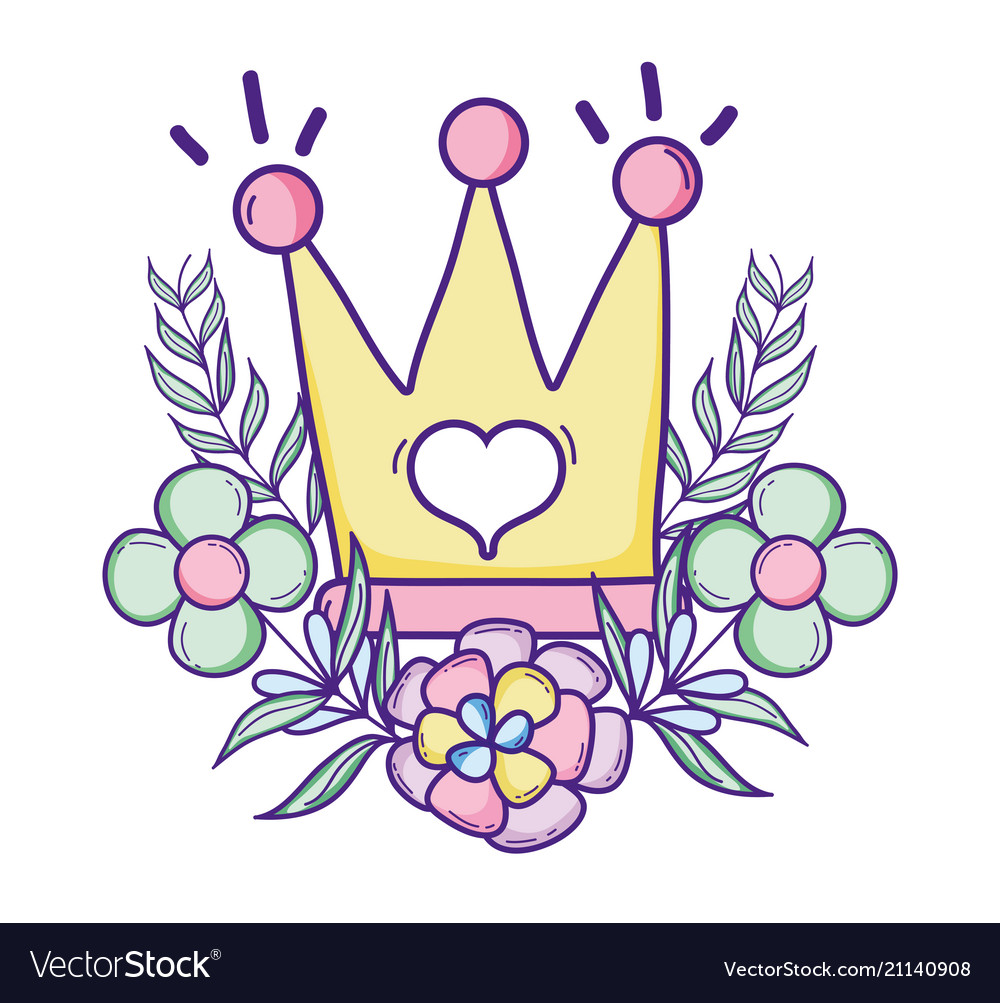 Cute Queen Crown Cartoon Royalty Free Vector Image You can download, edit these vectors for personal use for your presentations, webblogs, or other project designs. vectorstock