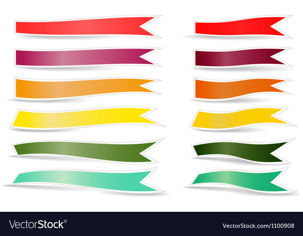 Decorative color ribbons