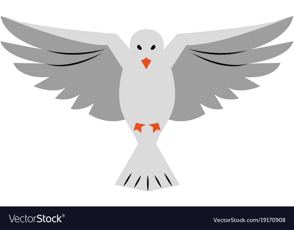 Dove Bird Symbol Royalty Free Vector Image Vectorstock