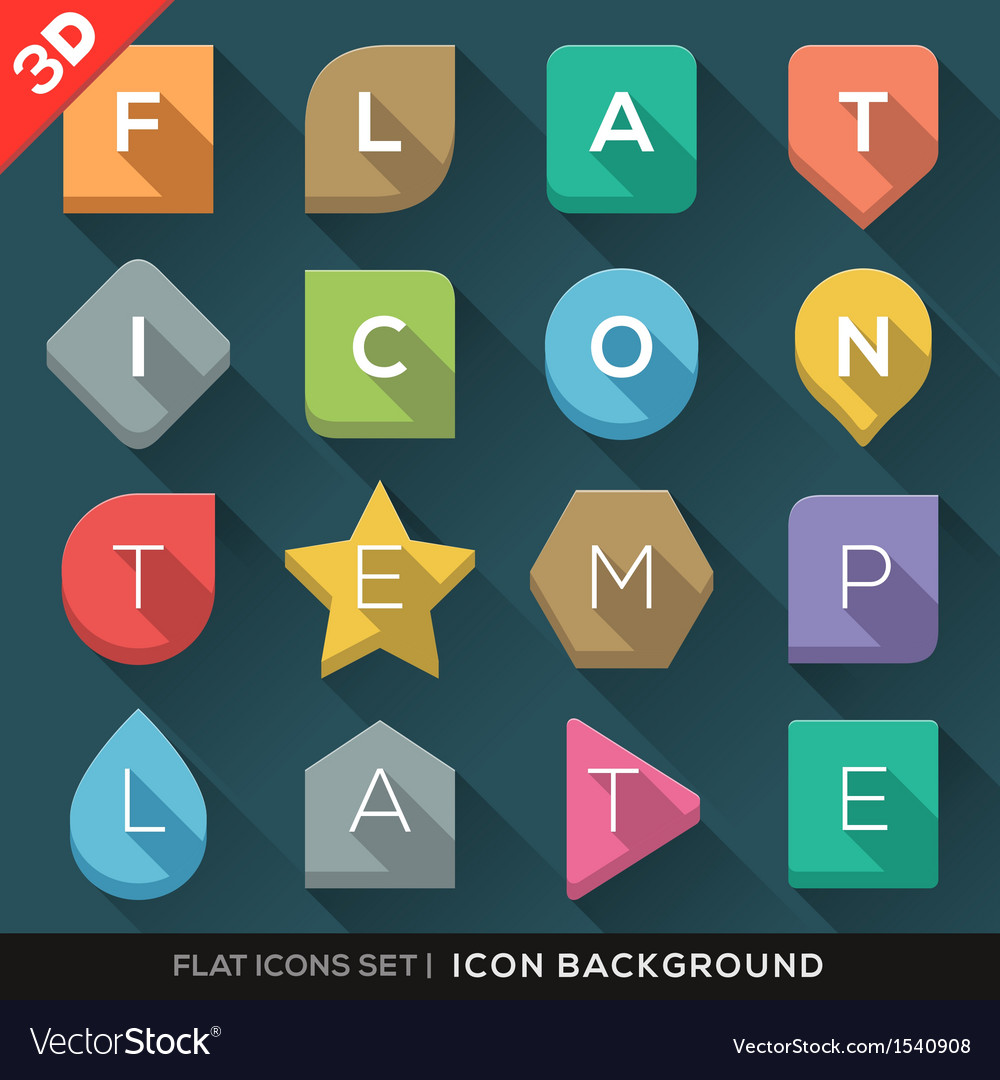 Geometric Shapes background for Flat Icons set vector image