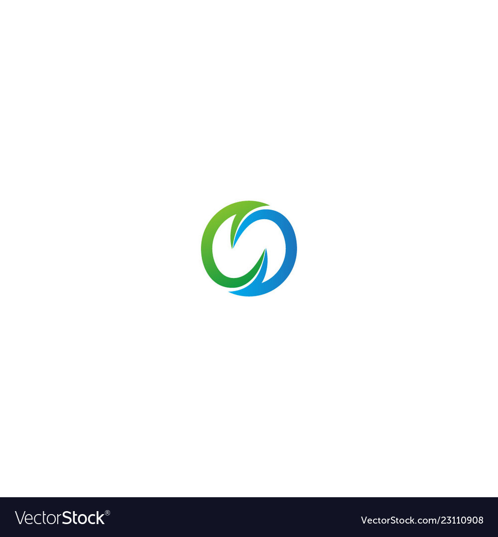 Round circle abstract eco logo