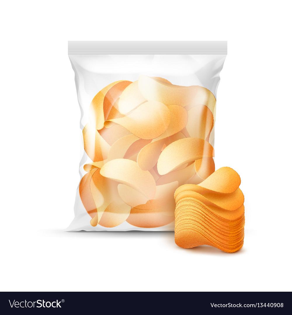 Sealed bag for package design full of chips