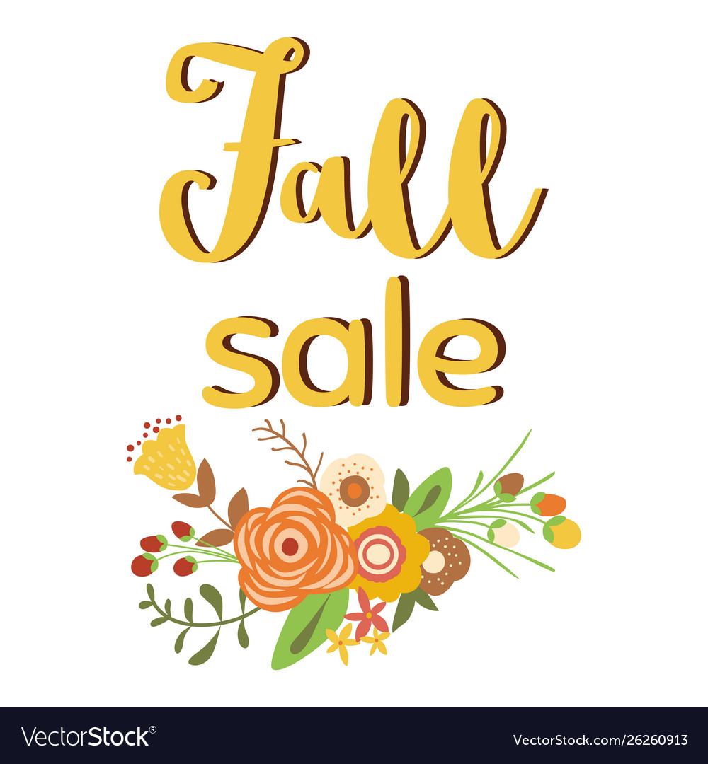 Autumn sale poster discount promo web banner