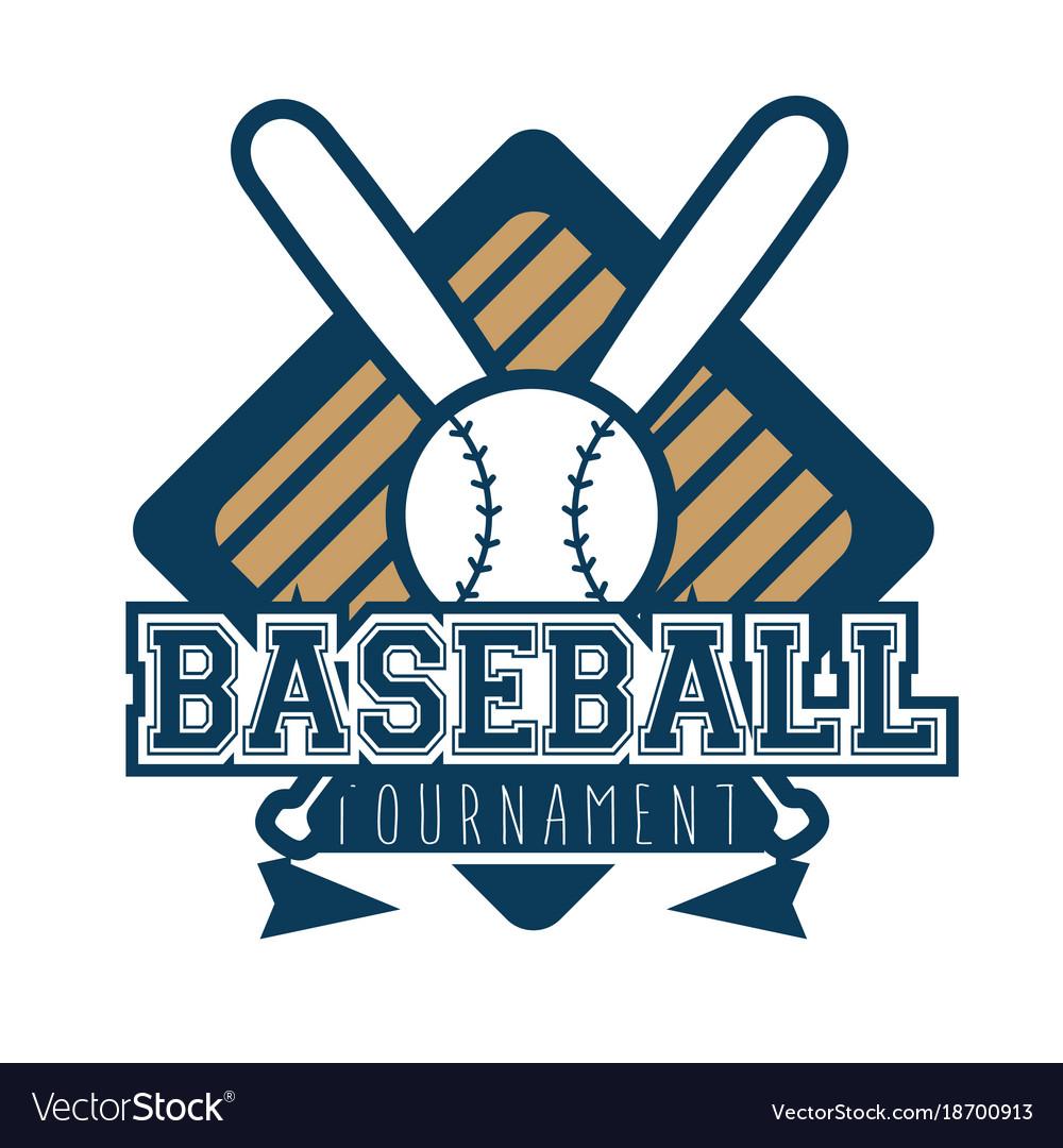 Baseball logo sport