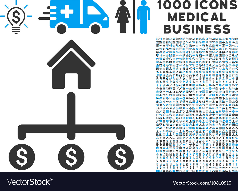 Building Payments Icon with 1000 Medical Business
