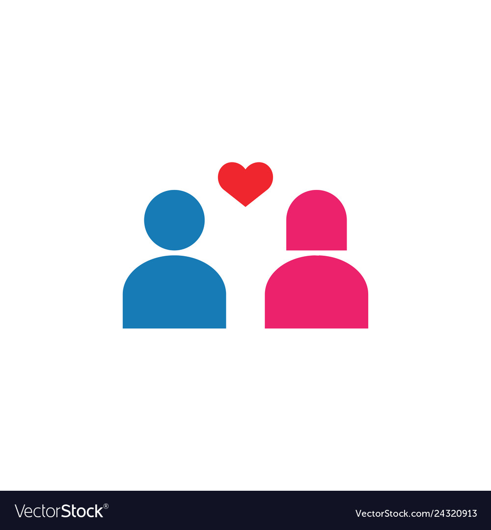 Couple icon design template isolated