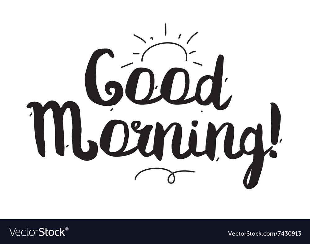Good Morning Greeting Card With Modern Royalty Free Vector