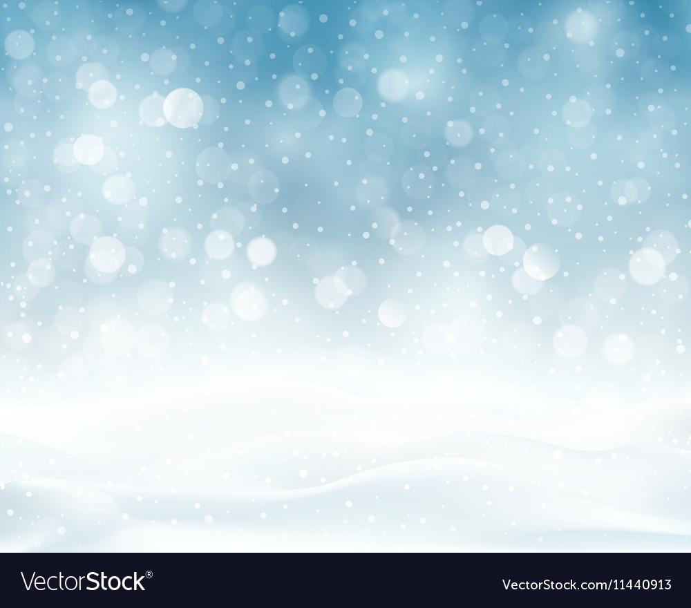 Silver blue winter Christmas blurry lights