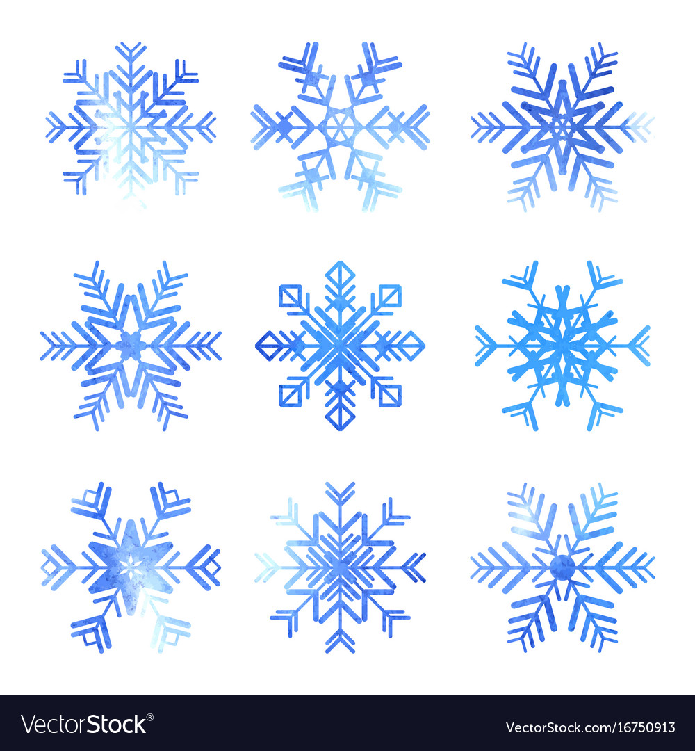 Snowflake icons set
