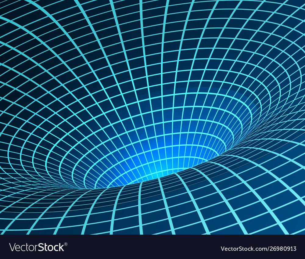 Wormhole singularity and event horizon - warp