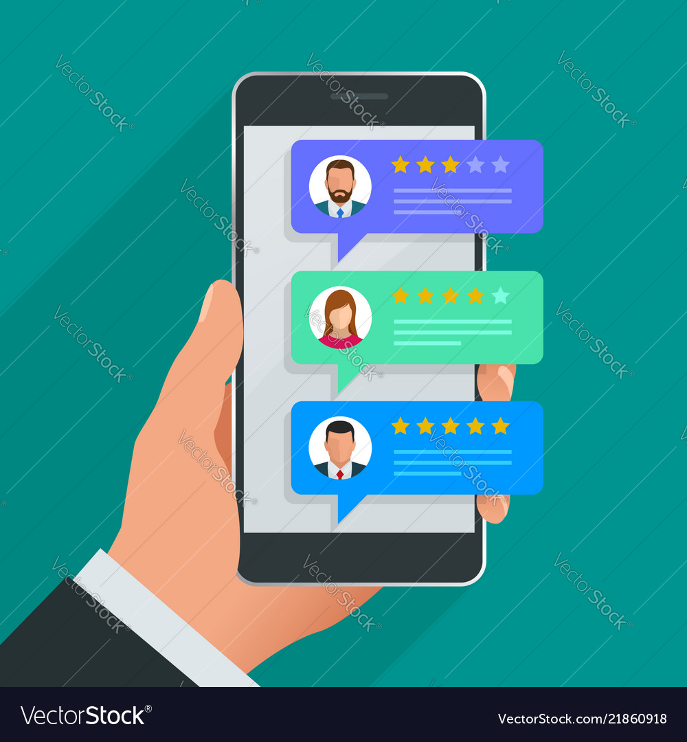 Customer reviews review rating on mobile phone