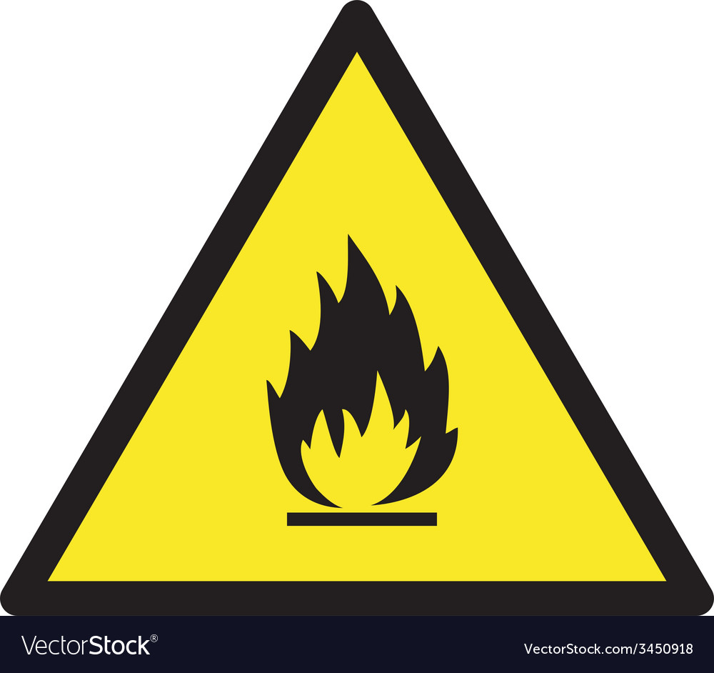 Danger Flamable Safety Sign