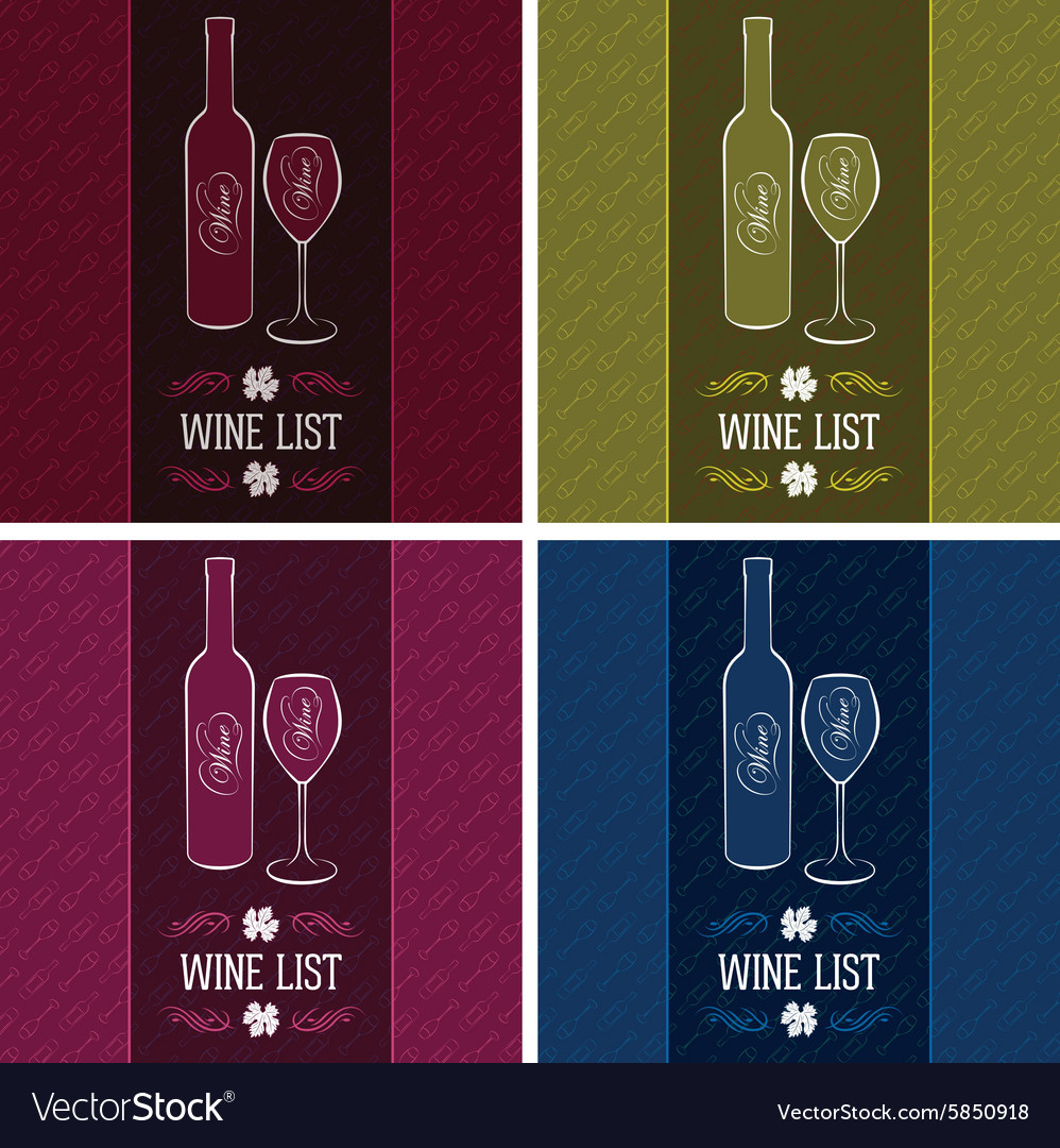 Set templates for cover menus and wine