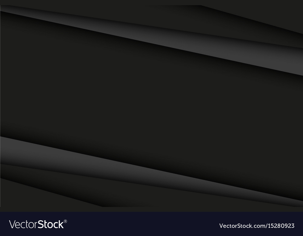 Abstract black and dark grey background vector image