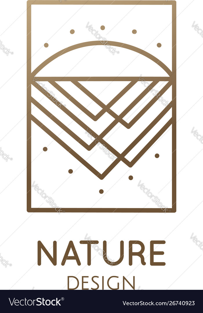 Abstract logo mountain in linear style
