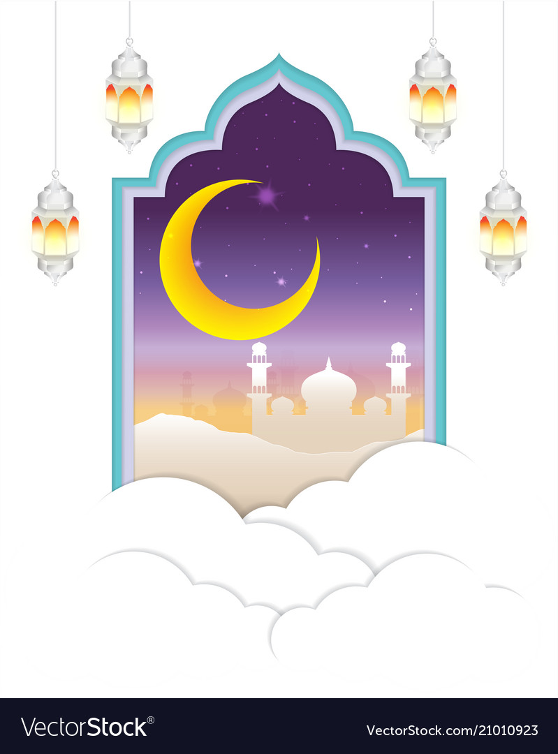 Arabian night with cloud