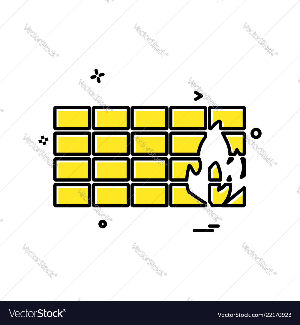 Bricks wall icon design