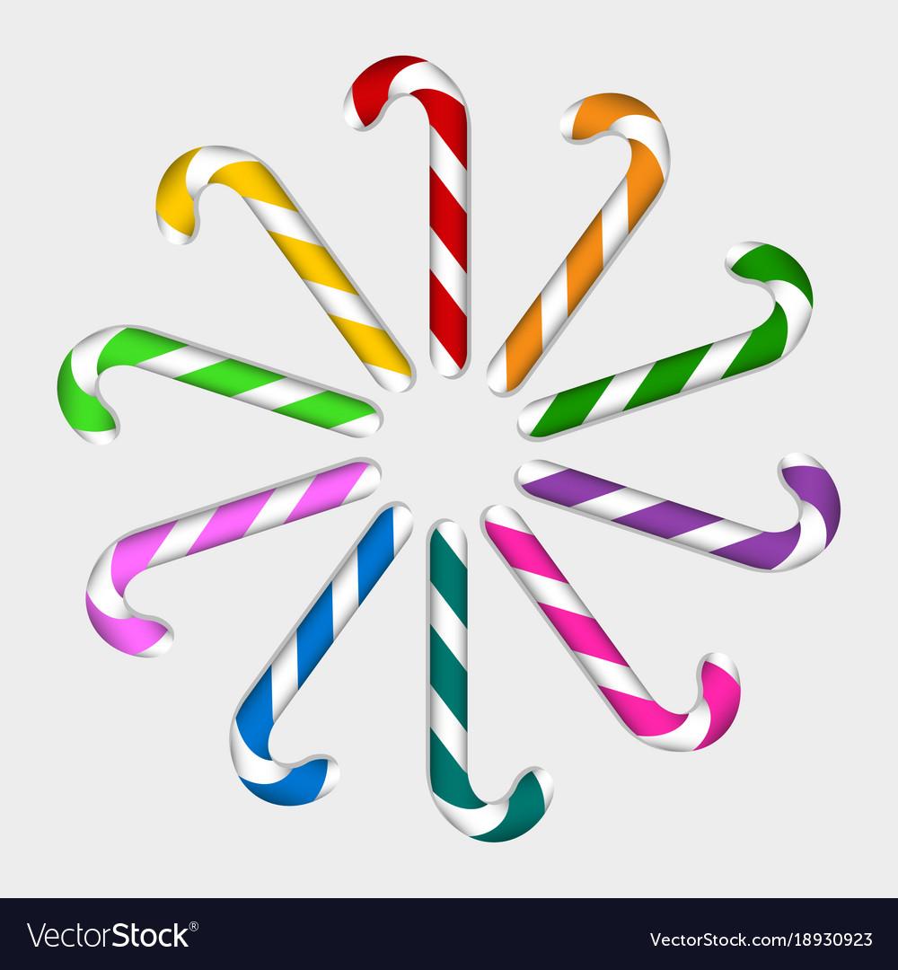 Christmas candy cane set