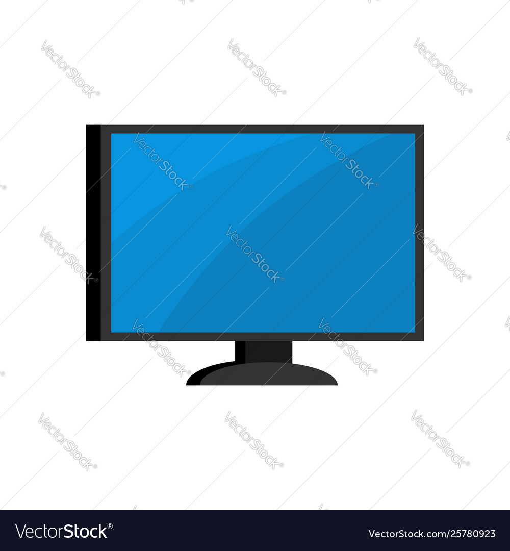 Computer isolated monitor pc on white background
