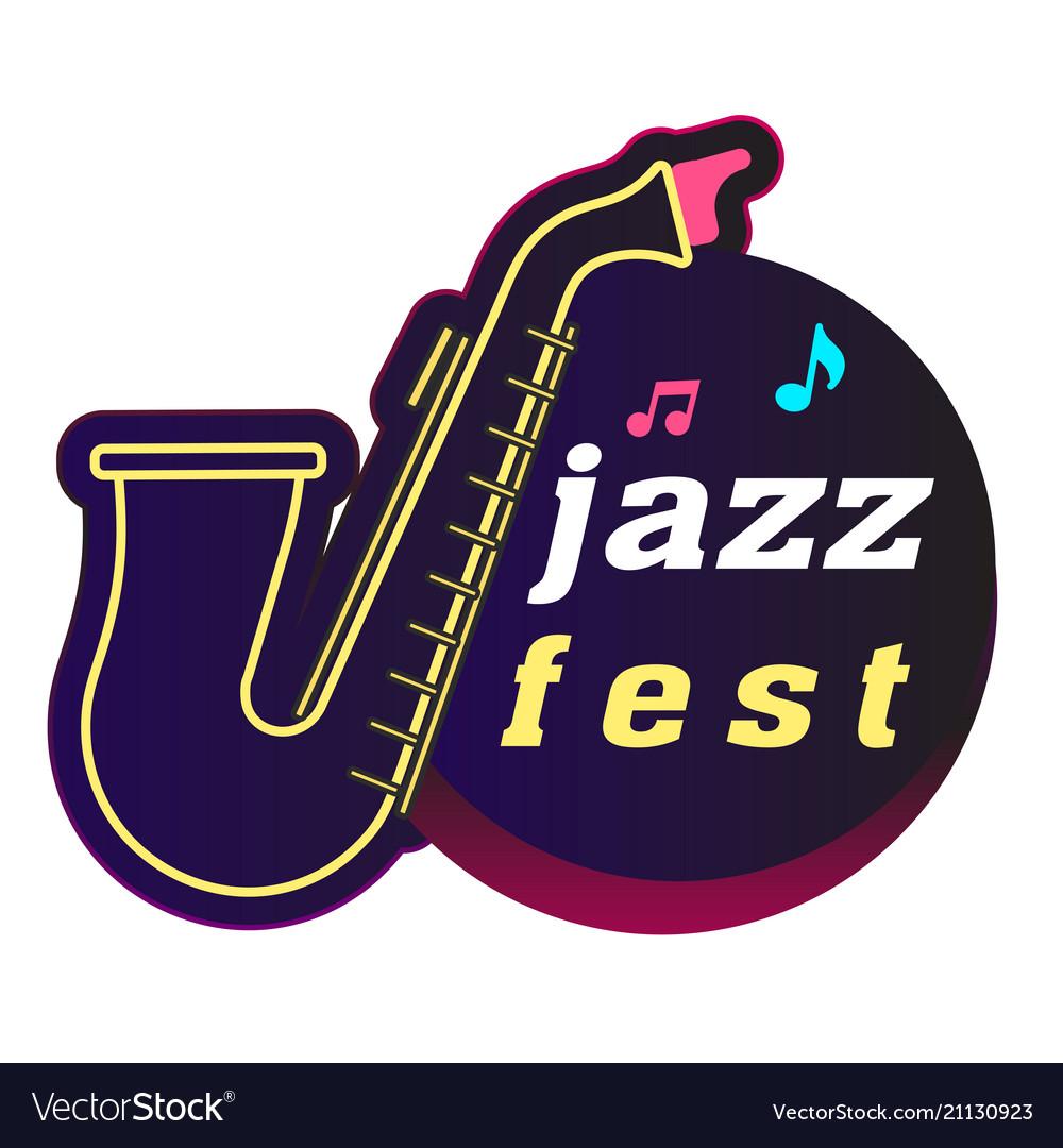 Neon jazz fest saxophone background image