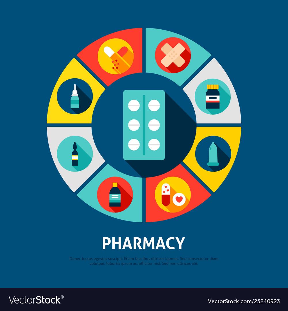 Pharmacy concept icons