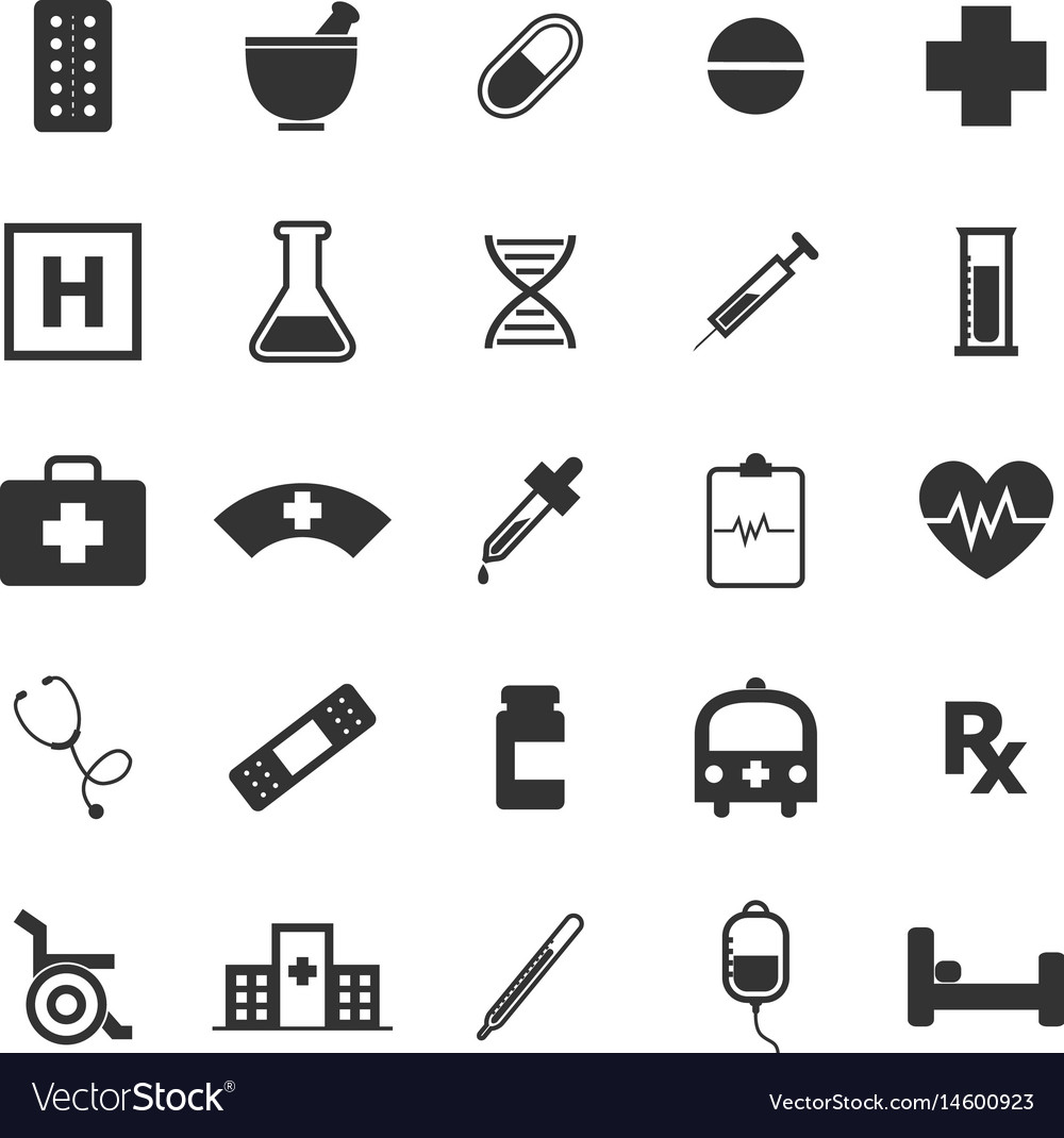 Pharmacy icons on white background vector image