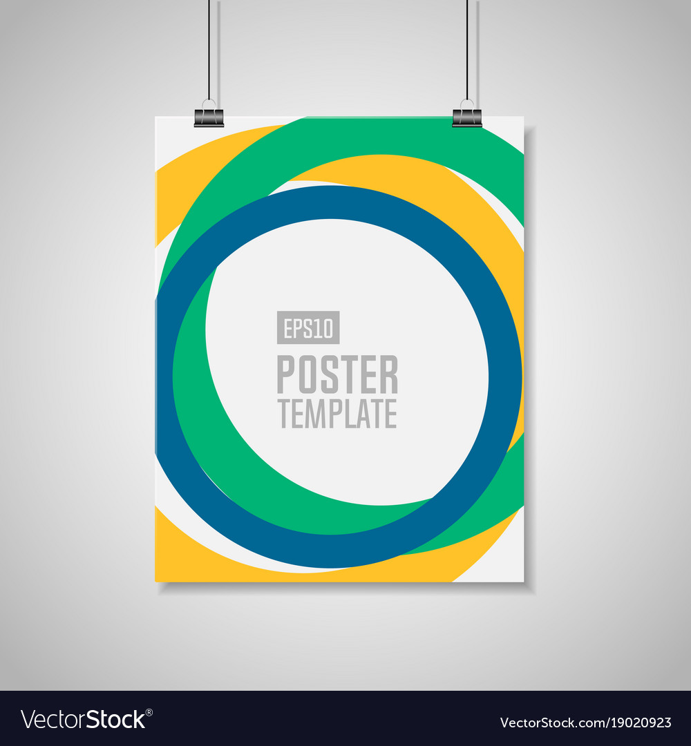 Poster template with clips
