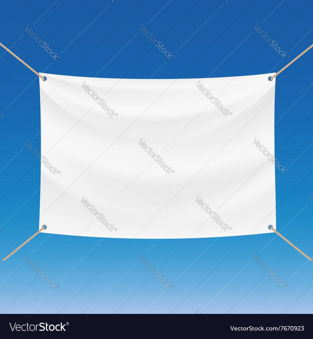 White banner Stock
