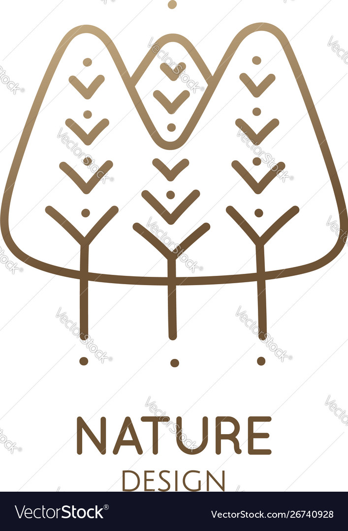 Abstract pattern logo forest