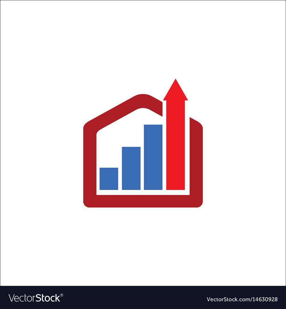 Business construction arrow logo