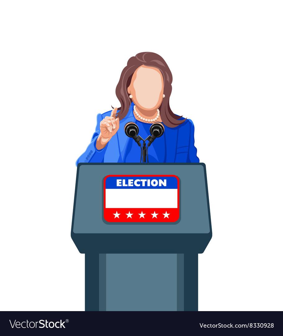 Female politician speech