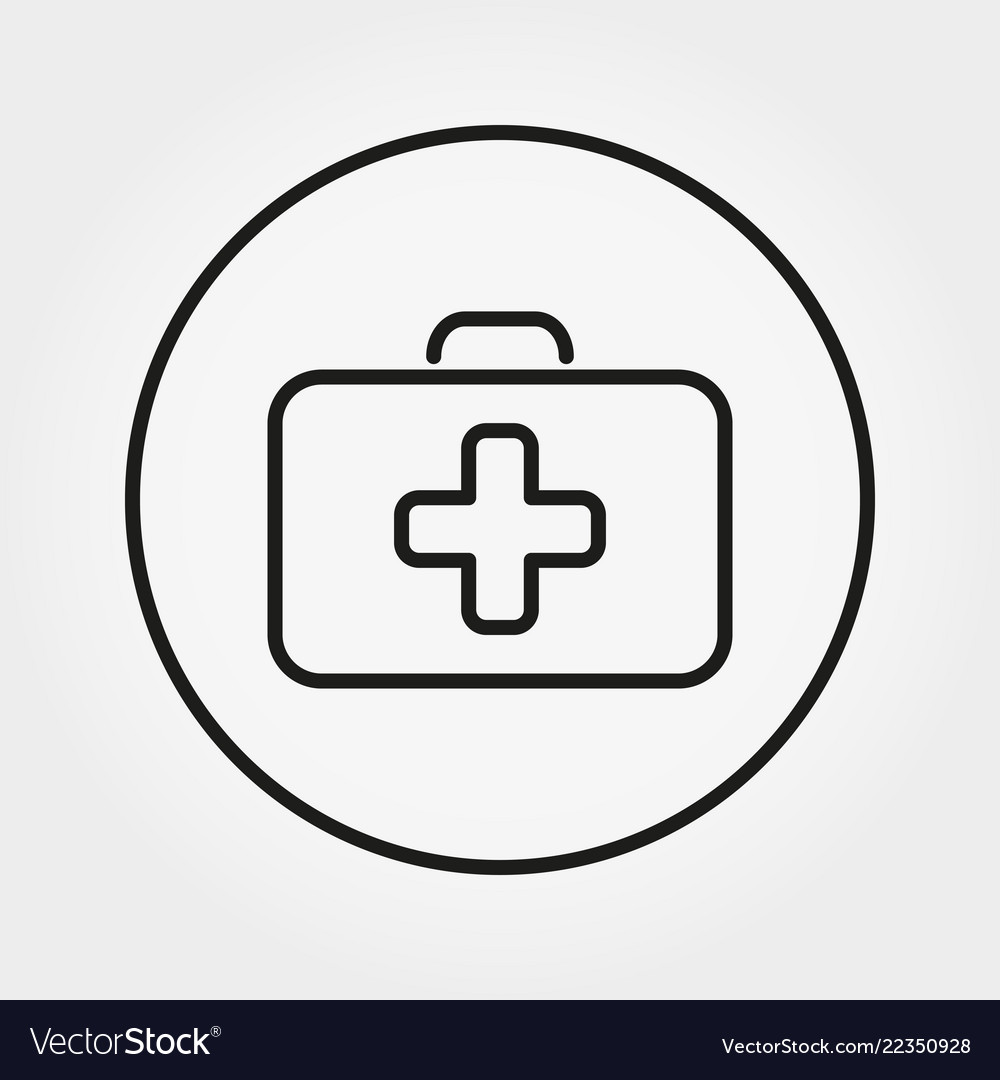 First aid case universal icon editable