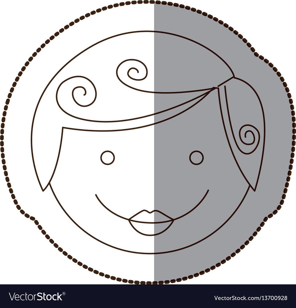 Happy boy people icon vector image