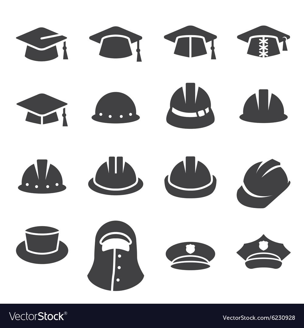 Hat icon set vector image
