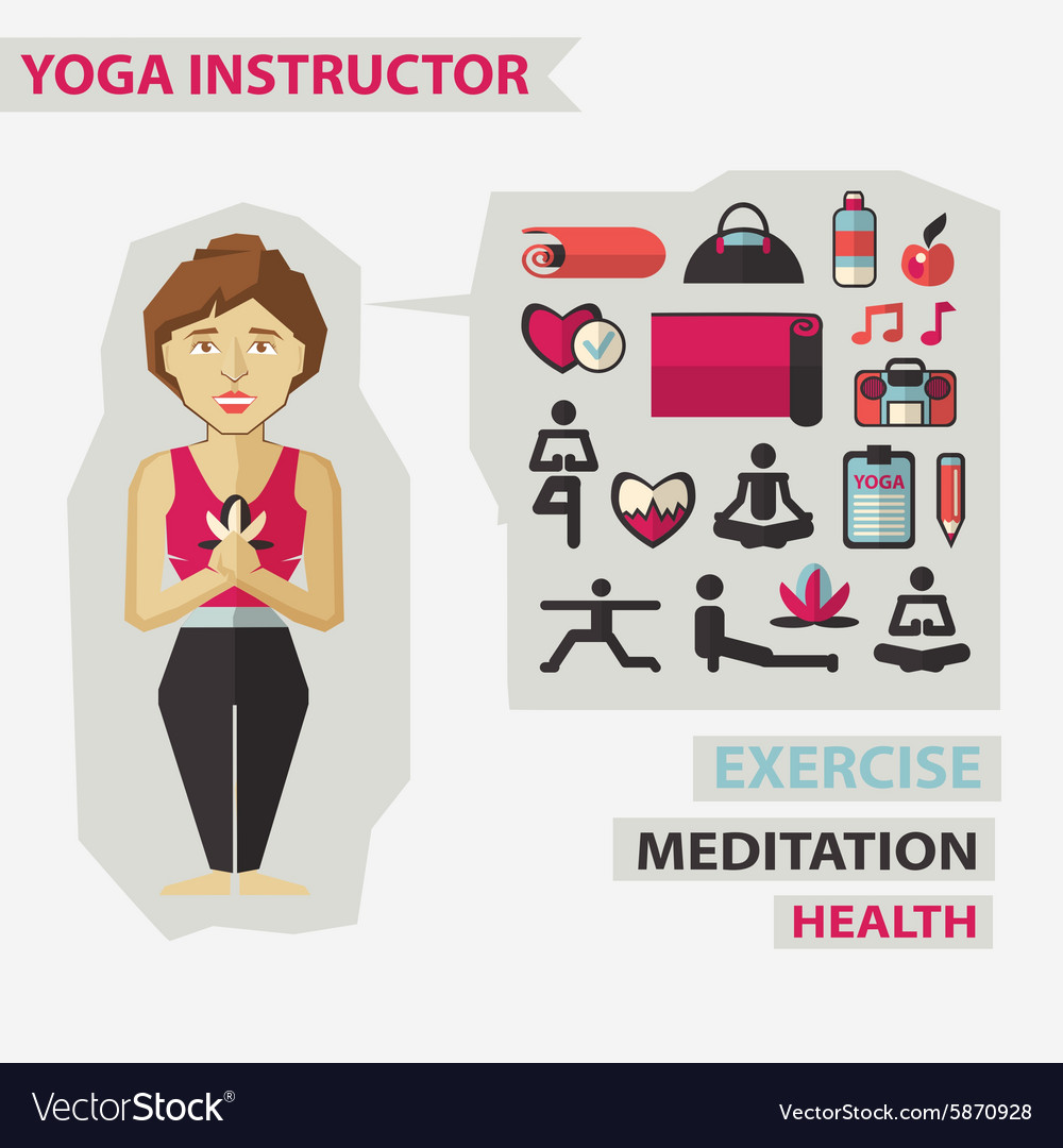 Profession of people Flat infographic Yoga vector image