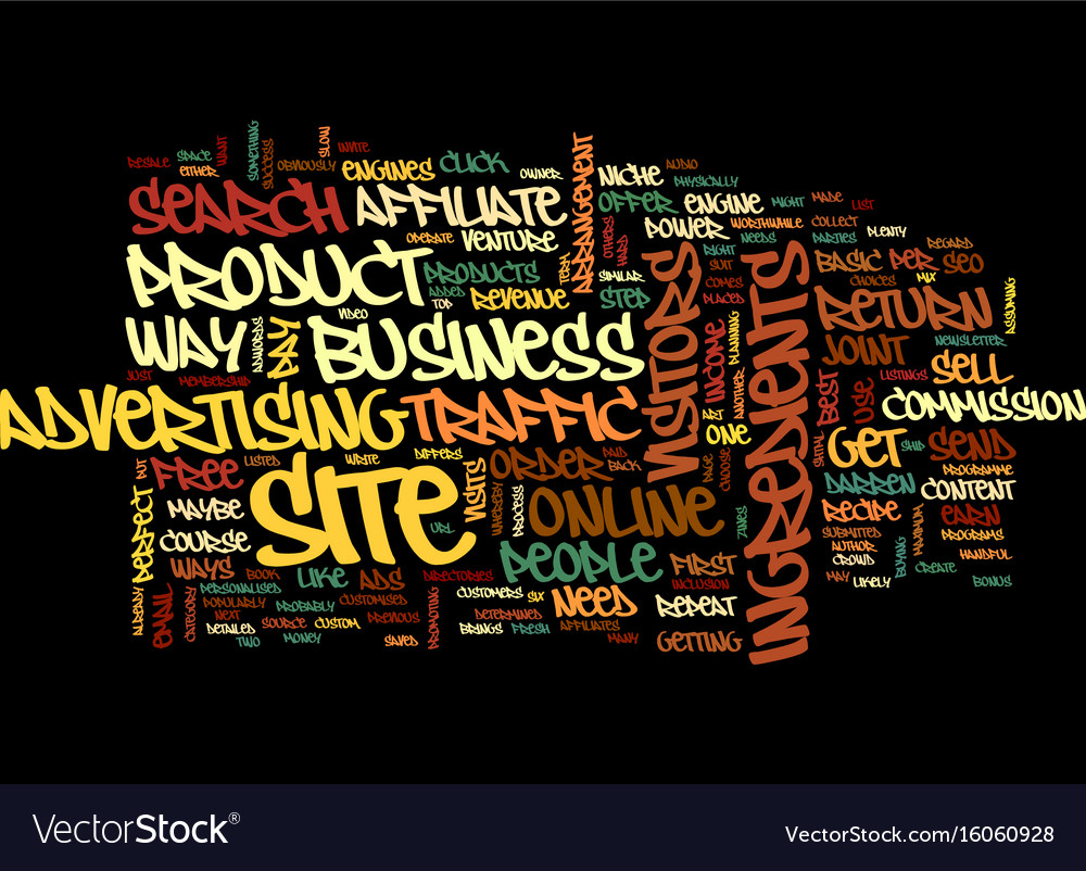 Your recipe for online success text background