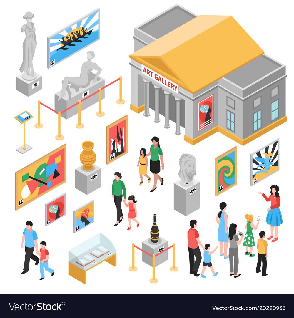 art-gallery-isometric-icons-set-vector-20290933 Best Of Art Gallery Vector @koolgadgetz.com.info