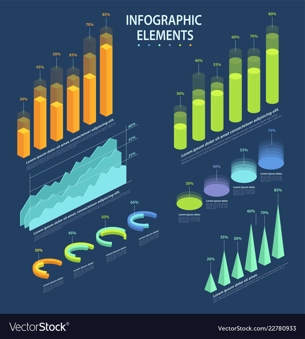 Business elements of infographic a set of