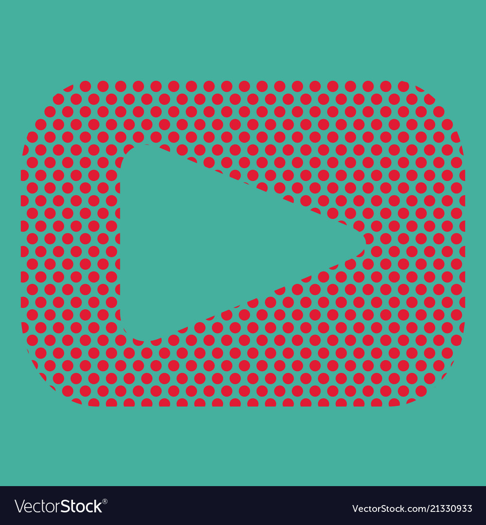 Button video player social media youtube