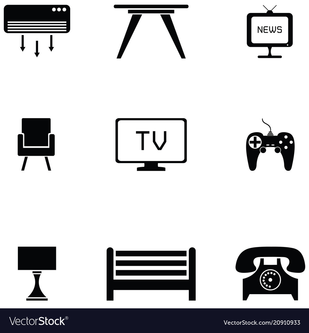 Living room icon set