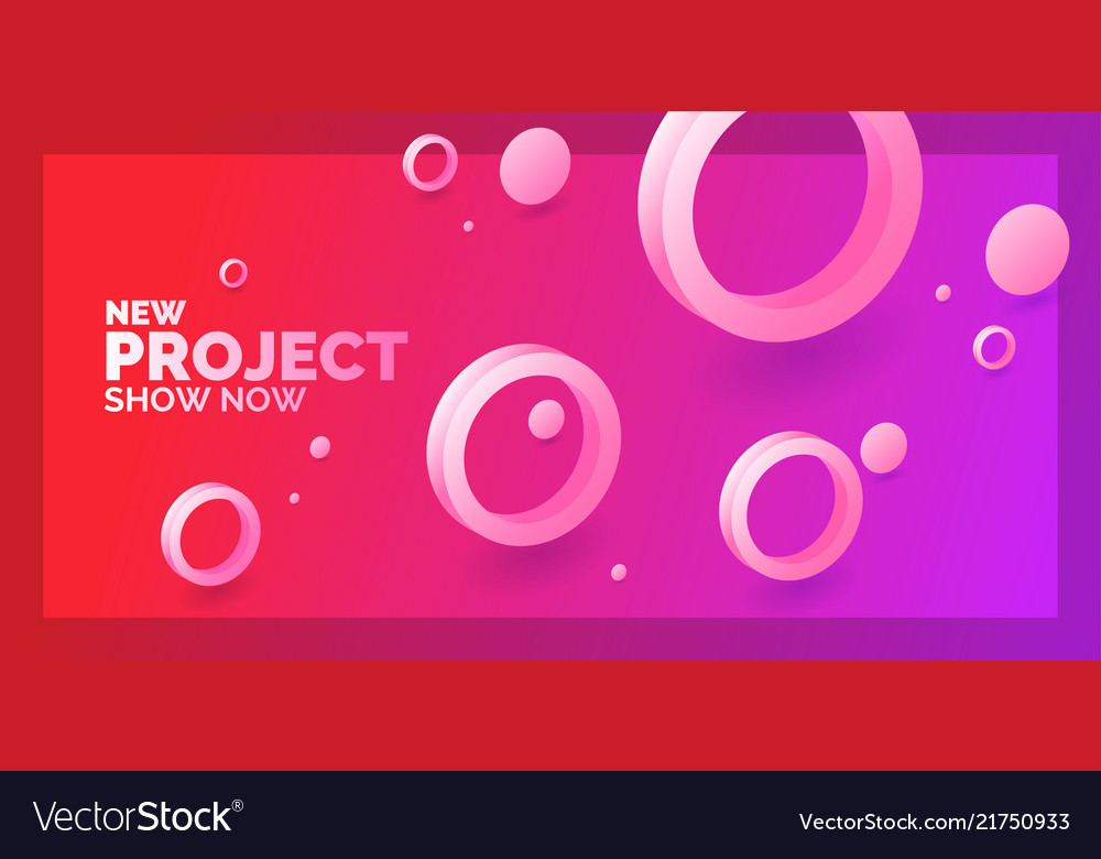 Modern abstract background template with circles