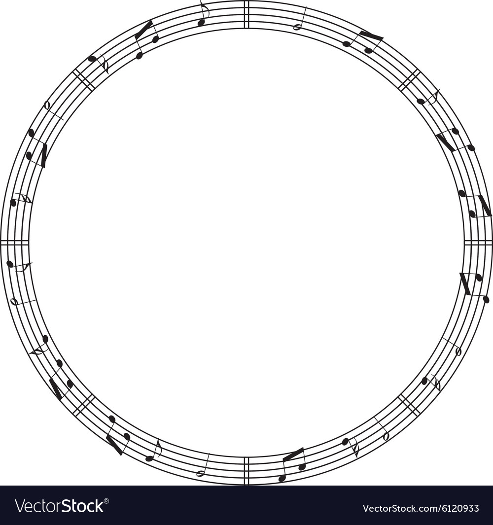 Round music border