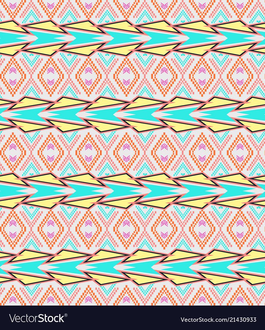 Seamless texture ethnic tribal pattern