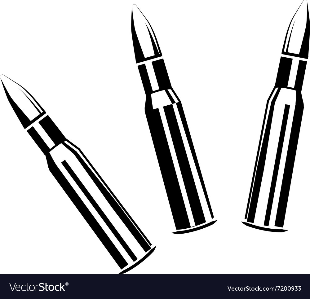 Set of bullets for rifles vector image