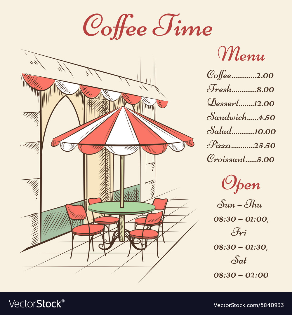 Street cafe poster