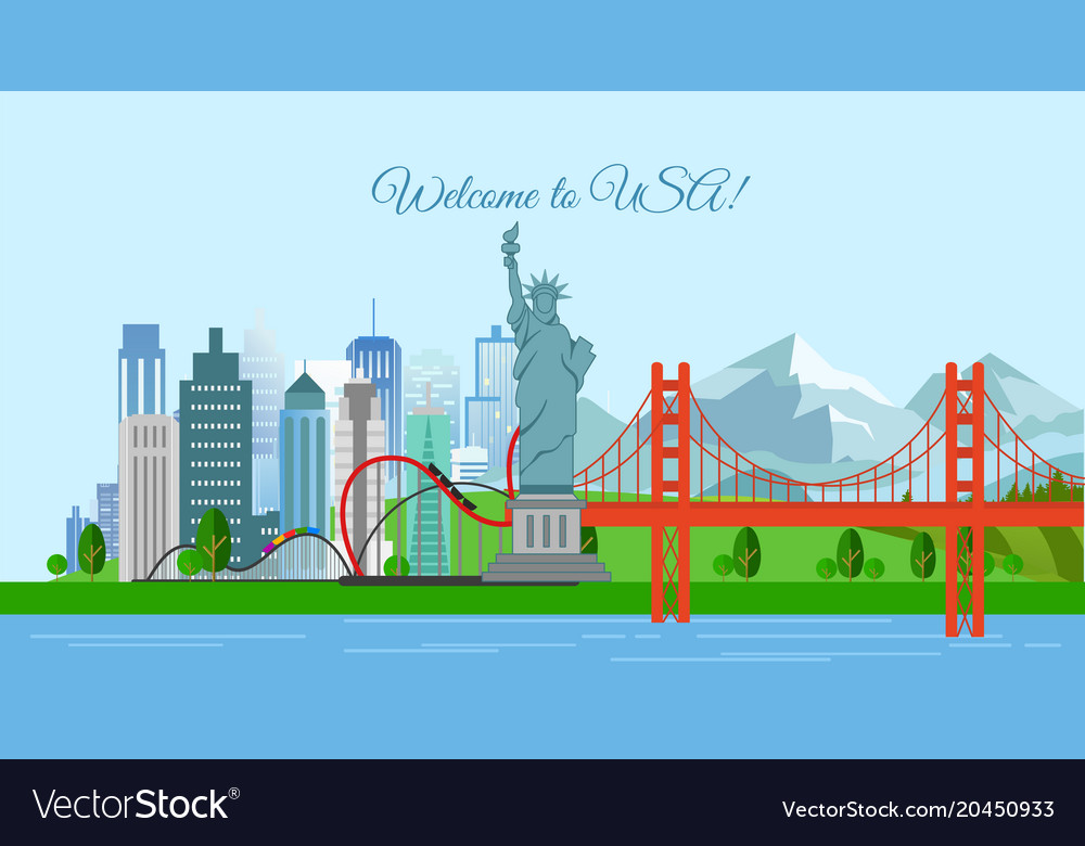 Travel concept welcome to