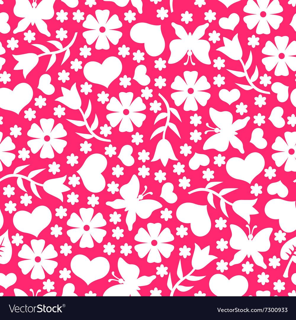 Valentine day pattern pink