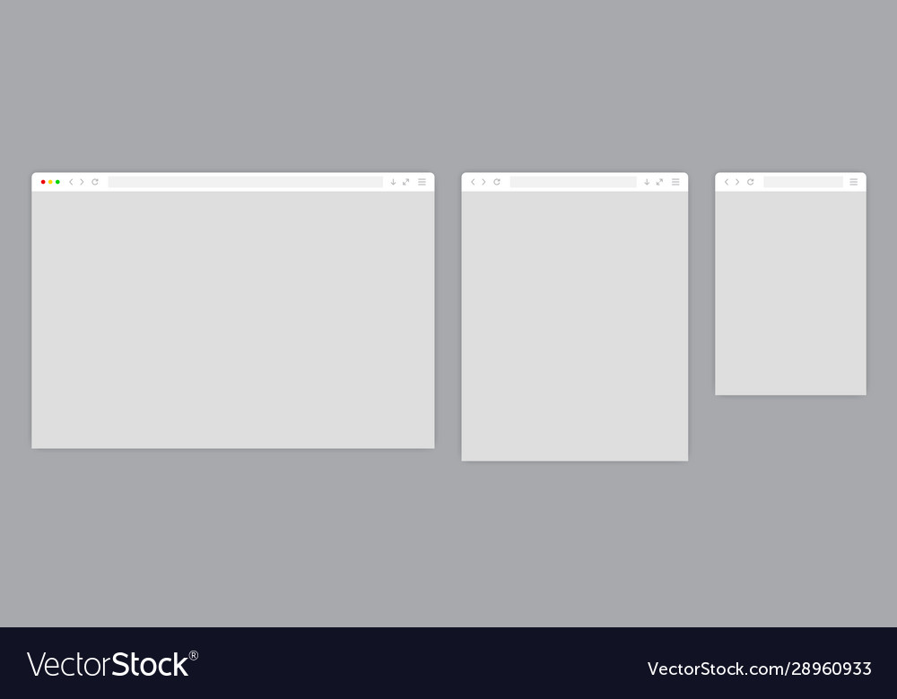 Web browser window white template
