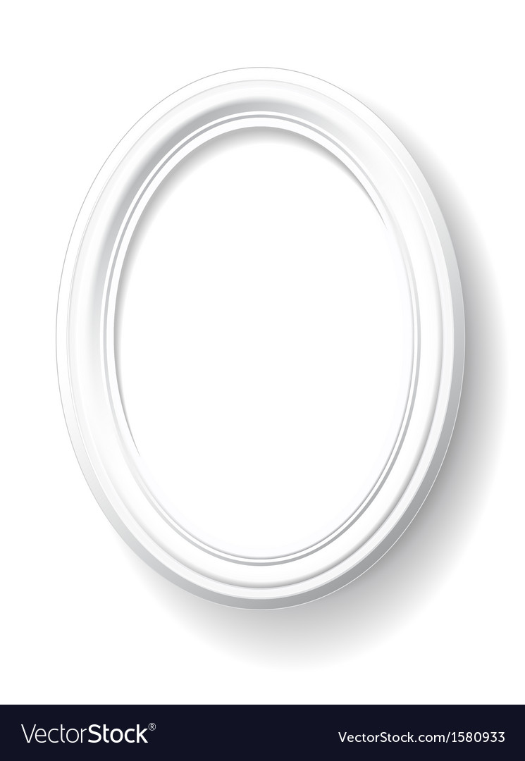 White oval frame Royalty Free Vector Image - VectorStock