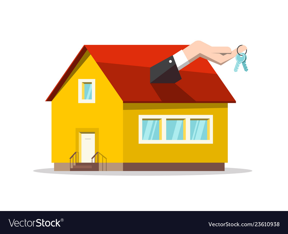 Buing or selling house concept real estate